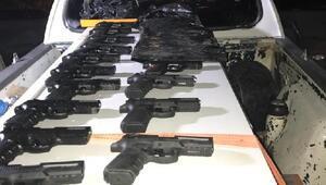 Beyşehirde kaçak tabanca operasyonu