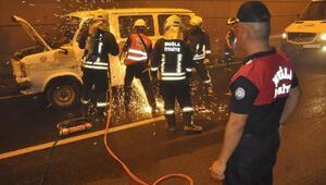 Muğlada kaza ve yangın tatbikatı