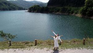Zonguldakta baraj yeni evli çiftlerin uğrak yeri oldu