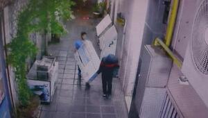 Diyarbakırda hırsızlık girişimi kamerada