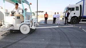 Melikgazide asfalt çalışmaları sürüyor