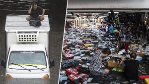 Son dakika: İstanbul'da şiddetli yağış sonrası şoke eden görüntüler