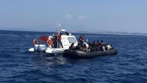 Çeşme ve Seferihisarda 105 kaçak göçmen yakalandı