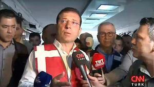 Son dakika... Sel felaketinin ardından Ekrem İmamoğlundan açıklama