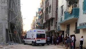 Şanlıurfa'da inşaat iskelesi çöktü 5 işçi yaralandı