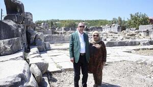 Cumhurbaşkanı Erdoğan Muğla'da tarihi yerleri ziyaret etti