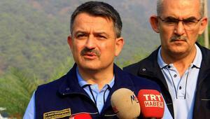 Bakan Pakdemirli açıkladı: İlk defa bir gece uçuşuyla yangını koordine edeceğiz