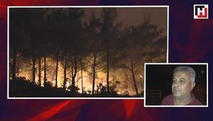 Karabağlarda başlayan orman yangını iki mahalleye yaklaştı