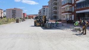 Turhalda yeni sokaklarda kaldırım çalışması