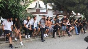 GSFli öğrenciler, Narlıdere Kampüsünde nöbete başladı