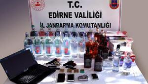 Keşandaki kaçak içki operasyonunda 2 tutuklama