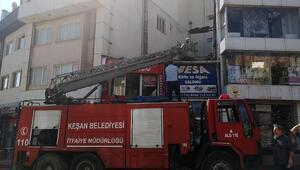 İşyerinde çıkan yangın korkuttu