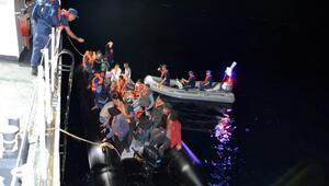 Edirnede lastik botlarda 68 kaçak göçmen yakalandı