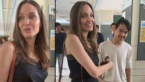 Angelina oğlundan ayrıldı: Ağlamamak için çok uğraşıyorum