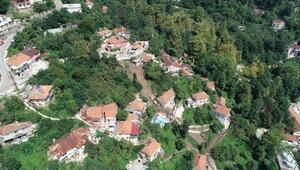 Zonguldaktaki heyelanda 6 ev çöktü, 20 kişi evsiz kaldı