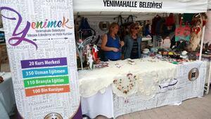 Kursiyerlerin ürünleri festivalde