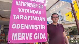 Antalyada bir hayırsever, veresiye borçları ödedi