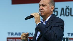 Cumhurbaşkanı Erdoğan'dan Trabzonda önemli açıklamalar