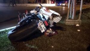 Motosikletin çarptığı yaya öldü, 2 yaralı