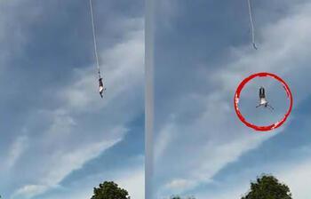 Akılalmaz olay! Bungee Jumping yaparken neredeyse ölüyordu
