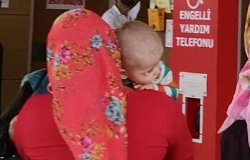 2'nci kattan düşen Eymen bebek yaralandı