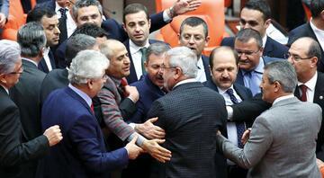 Mecliste Erdoğan kavgası