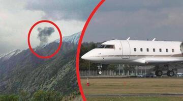 İranda düşen Türk uçağından ilk fotoğraf