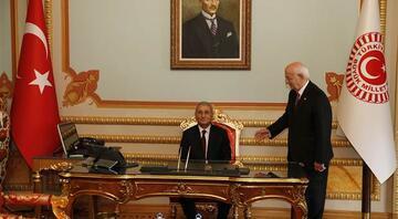 TBMM Başkanı Kahraman, Meclis Başkanlığı görevini devretti