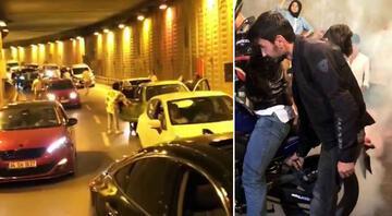 İstanbulda şoke eden görüntüler Tünel kapatıp havaya ateş açtılar…
