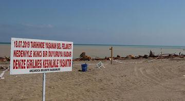 Sel nedeniyle Akçakoca'da denize girmek yasaklandı