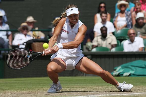 Wimbledon'ın ilk finalisti Alman tenisçi Kerber oldu