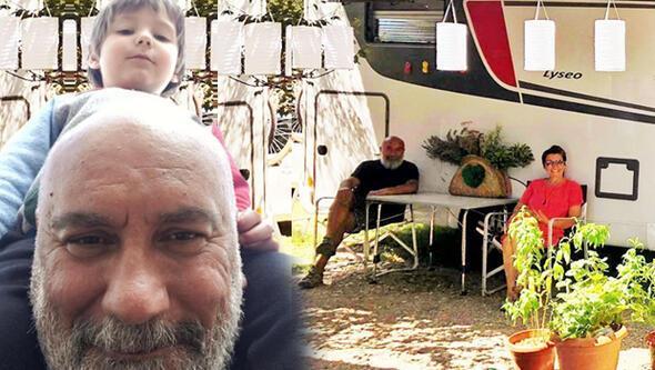 Çekirdek aile karavan tatilinde
