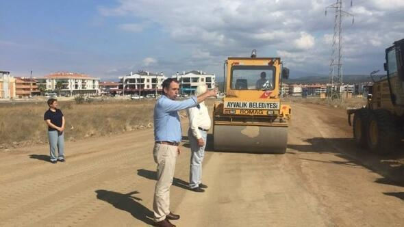 Ayvalık Belediyesi Kipa Kavşağını Yapıyor