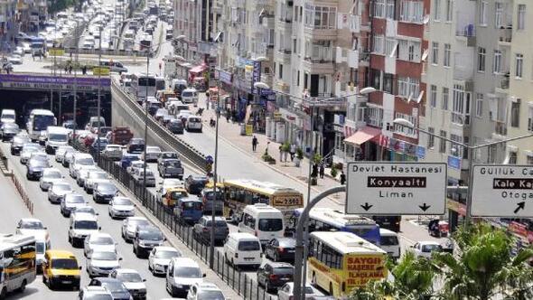 Antalya taşıt yoğunluğunda 4üncü