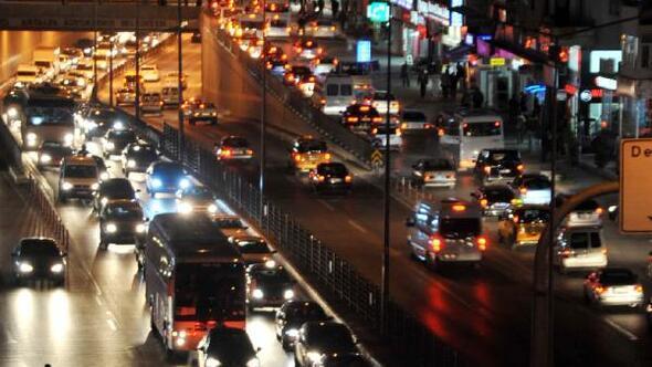 Antalyada araç yoğunluğu