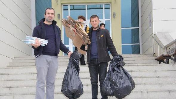 Kırklareli Üniversitesinde, Sıfır Atık Projesi başladı