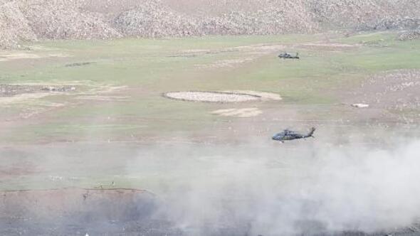 Ağrı Dağında toprağa gömülü PKK erzağı ele geçirildi