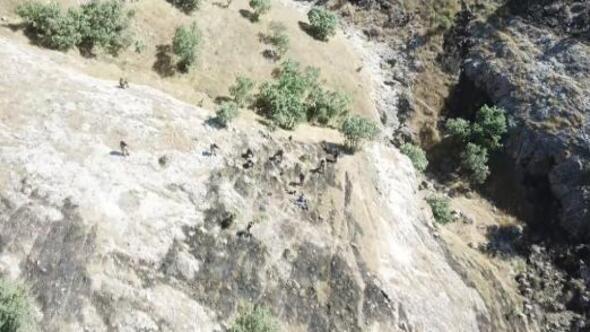 Hasankeyfte 4 teröristin teslim olma anı görüntülendi