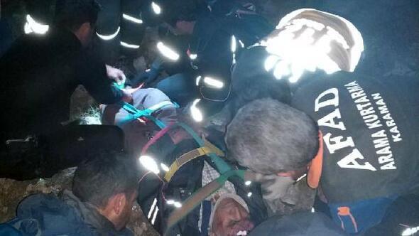 Kaybolduktan 7 saat sonra arazide yaralı bulundu
