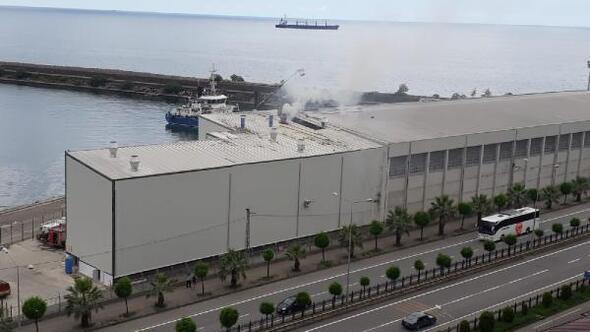 Giresun limanında korkutan patlama