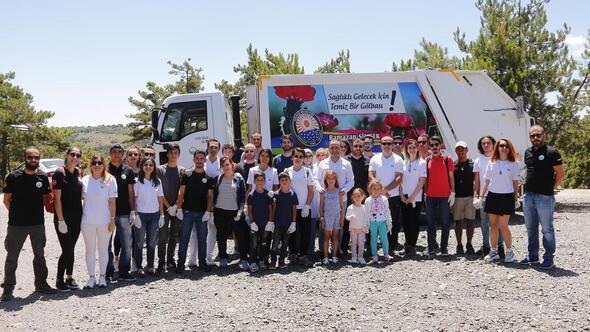 Beynam Ormanı'nda gönüllü temizlik