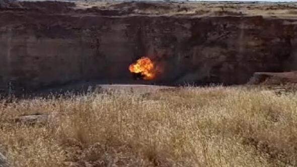 Suriye sınırında bulunan 7 kilo plastik patlayıcı imha edildi