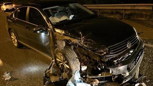 Meclis üyesi kaza yaptı
