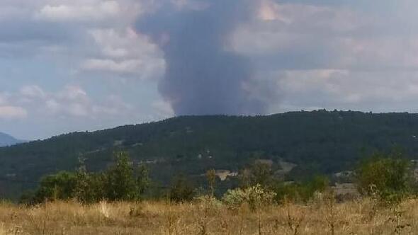 Boyabattaki orman yangını 2 saatte söndürüldü