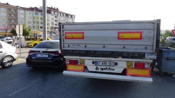 Polis ile TIR sürücüsünün tartışması karakolda bitti