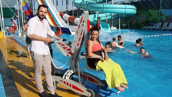 Sanayici baba oğuldan 'Engelsiz Havuzlar'