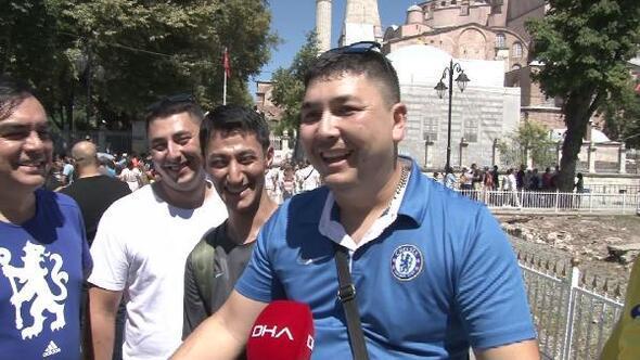 Tarihi Yarımadada esnafın Süper Kupa heyecanı