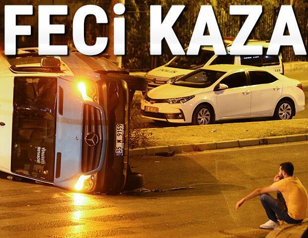 İzmirde feci kaza... Trafikte dehşet saçtı