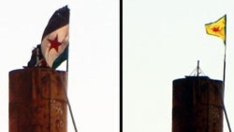 Resulayn'da ÖSO bayrağı indirildi PYD bayrağı asıldı