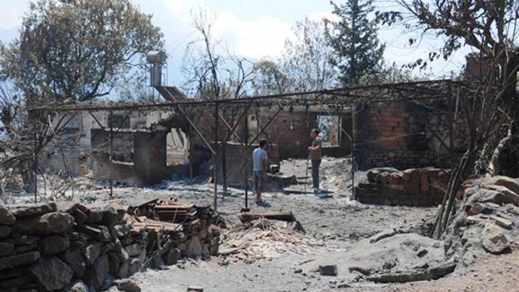 150 hektar zarar gördü, soğutma çalışmaları sürüyor